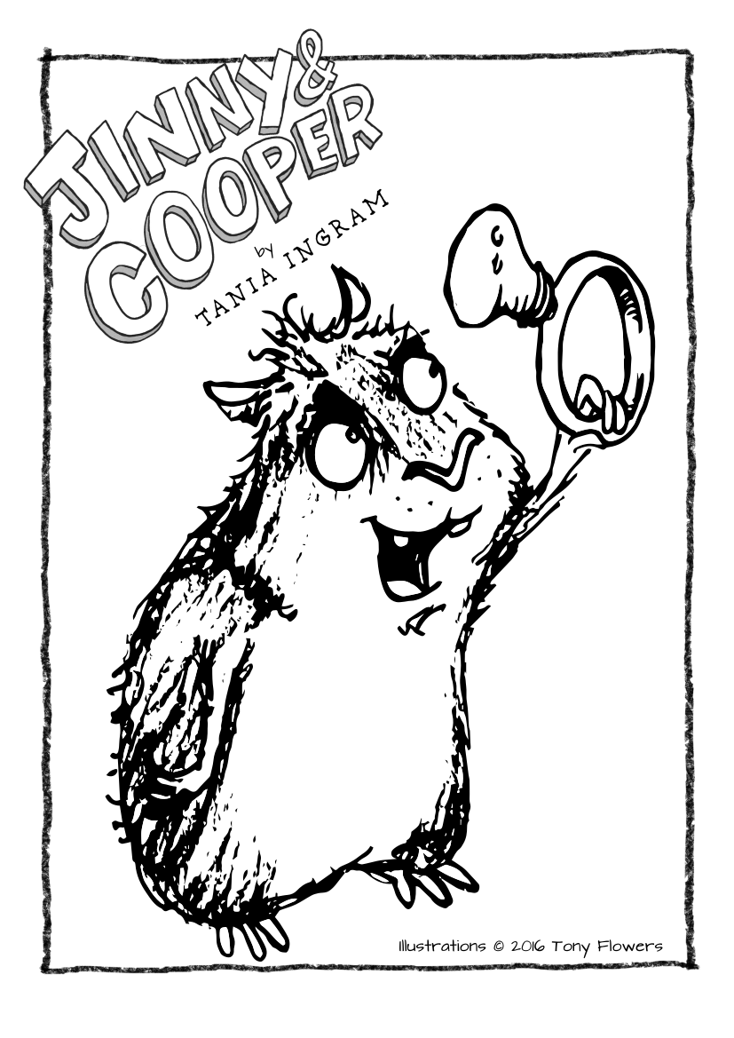 Jinny and Cooper Colouring Pages